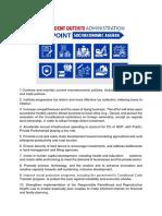 10+0 point Socio-Economic Agenda of President Duterte