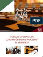 Diapositivas Formas Especiales de Conclusión Del Proceso Laboral