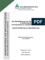 Stoetzer Watzka Akkreditierung Heft 1 2017