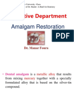 Amalgam Restoration Practical