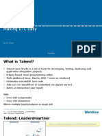 Talend – Making ETL Easy