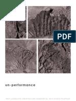 RMIT - Landscape Architecture  -  Studio pamphlet – unperformance - Web Studio