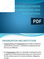 DIFFERENCE BETWEEN ORGANIZATIONS AND INSTITUTIONS.pptx