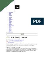 12V SCR BatteryCharger