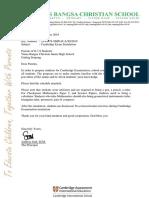 Reminder-Cambridge Exam Simulation (Grade 7-8)