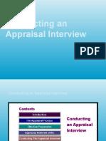 Conducting an Appraisal Interview