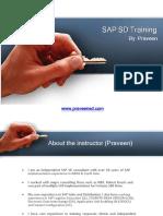 SAP SD Training by Praveen