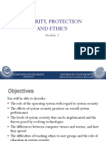 OS Module 2-Security, Protection and Ethics
