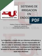 Sistemas de Irrigación en Endodoncia