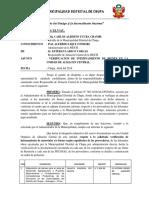 INFORME N°      -2018 VERIFICACION Y CONFORMIDAD DE BIENES ALMACEN