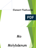 RegentsElements Flashcards 1st Set