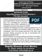 Ad Bid 100417 1repair Maintainance of Pta Cafeterias