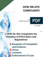 POEA Presentation on-site Complaint