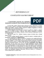 Documents.tips Reformele Lui Constantin Mavrocordat