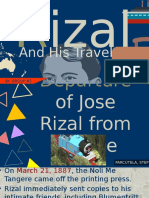 Rizal's travels