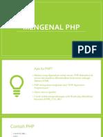 Apa itu PHP_