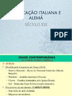 Unificacao Da Italia e Da Alemanha Xix (1)