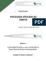 MDV Modulo I Unidade 3 - Psicologia Aplicada Ao Direito - Tulio Revisto 2016-1