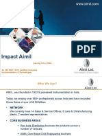 Aimil T&M Group PPT - March 2019