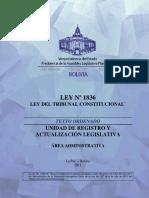 CONSTITUCIONAL- Ley 1836 Del Tribunal Constitucional (Abrogada)