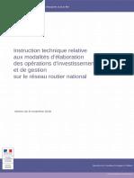 Modalites Elaboration Operations Investissement Reseau Routier National
