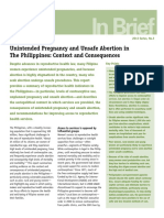 IB Unintended Pregnancy Philippines