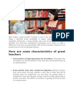 What Makes a Great Teacher