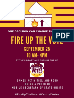 Updated Fire Up the Vote Poster