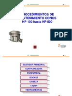 Mantenimiento Conos HP 100 - 500