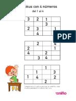 Sudokus Para Aprender Los Numeros Niños