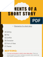 PPT on elements of a short story