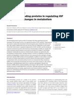 [14796813 - Journal of Molecular Endocrinology] 40 YEARS of IGF1_ Role of IGF-binding Proteins in Regulating IGF Responses to Changes in Metabolism