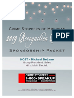 Crime Stoppers of Michigan 2019 Recognition Dinner