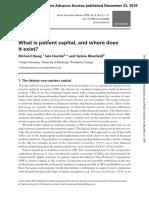 Deeg, R., Hardie, I. e Maxfield, S. (2016). O Que é Capital Paciente e Onde Ele Existe