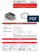 BC FT 016, 01301611 Kit Lavaplatos en Acero Poceta 58.78 x 45.71 Cm