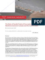 The Risks of Parallel Trade of Prescription Medicines Between Canada and the U.S.