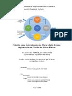 Filipa - Dissertação - modelo para determinação da maturidade de uma organização na gestão de ativos físicos