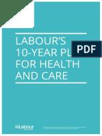 Labour Ten Year Nhs Plan