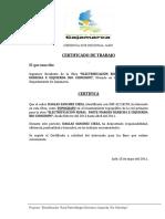 Certificados d Trabajo
