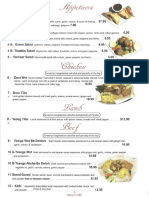Menu for Abyssinian Ethiopian Restaurant 100D Main St., Middletown