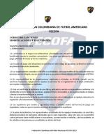 Federación Colombiana de Futbol Americano Codigo de Sanciones 2019