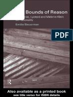 1-21 (Problems of Modern European Thought) Emilia Steuerman-Bounds of Reason_ Habermas, Lyotard and Melanie Klein on Rationality-Routledge (1999).pdf