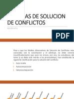 Sistemas de Solucion de Conflictos