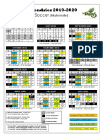 Calendrier Scolaire - Primaire - 2019-2020 - Word - Soccer MATERNELLE