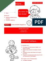 Dépliant Soccer MATERNELLE Année Escabelle Dragons Année 2019 2020