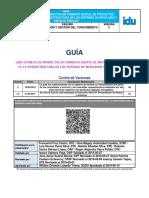 Guic06 Guía Entrega de Productos en Formato Digital Proyectos Infraestructura de Sistemas de Movilidad y Espacio Público v 2