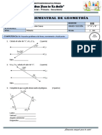 Examen 3er Bimestre Geometria 5to