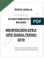 Temario Subalterno 2019 Bilbao