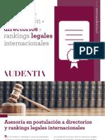 Asesoría en postulación a rankings y directorios legales