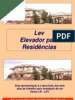 Home Lift LEV_Procedimentos de Instalação